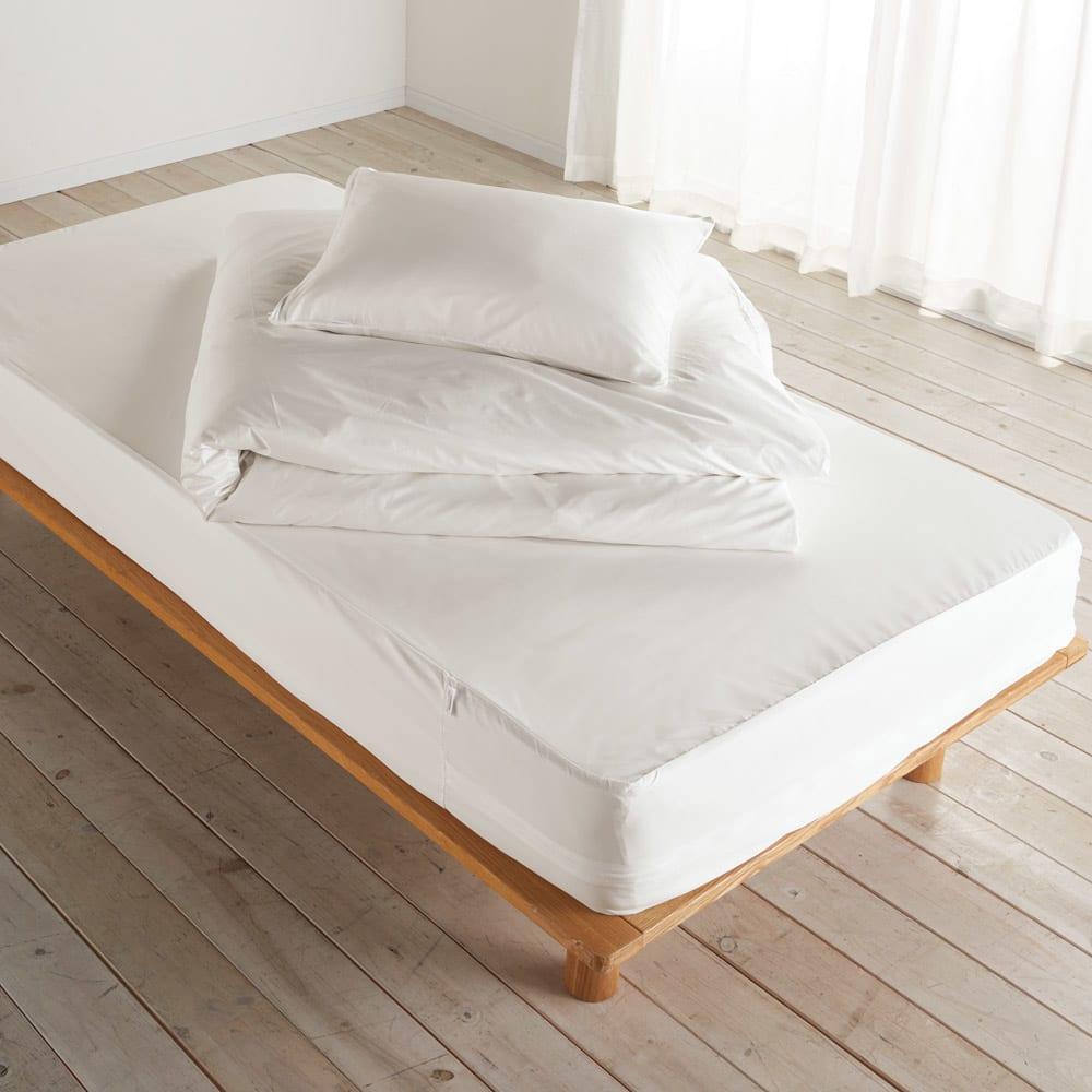 ミクロガード(R)防ダニ用寝具プロテクター マットレス用 寝具カバーの内側に使うインナータイプの防ダニカバー。