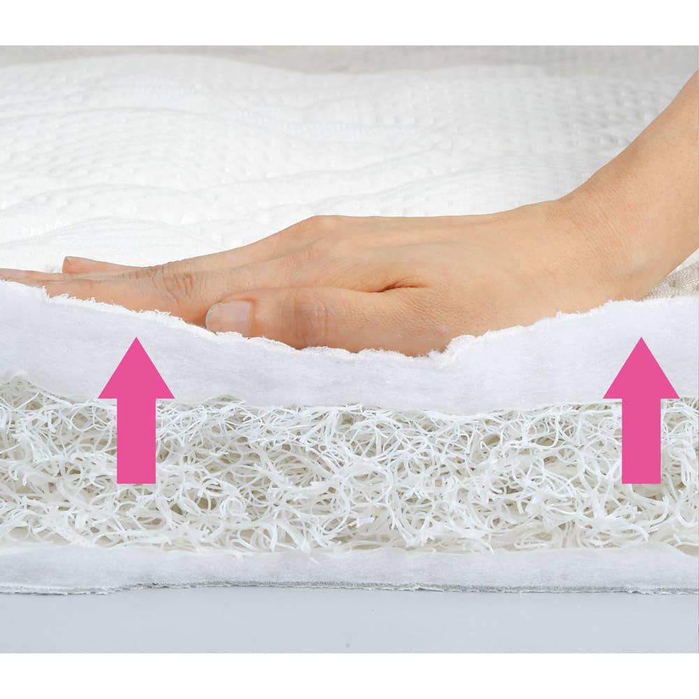 ブレスエアー(R)リュクス 敷布団 ソフトタッチな寝心地ながら、ブレスエアー(R)の弾力性で寝返りもスムーズ。