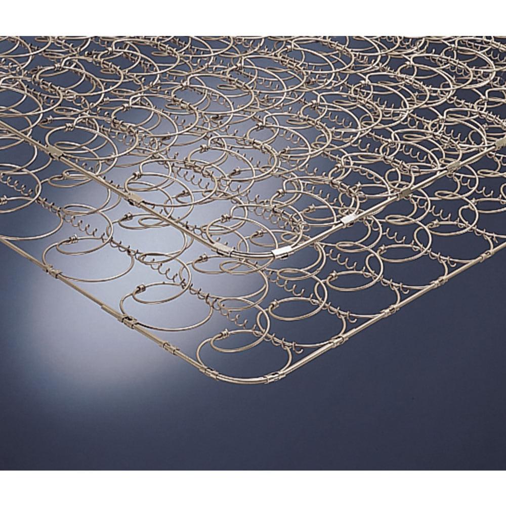 国産ボンネルマットレスベッド 長さ185cm(マットレス170cm) マットレスは2.5mm線径のボンネルコイルを採用。