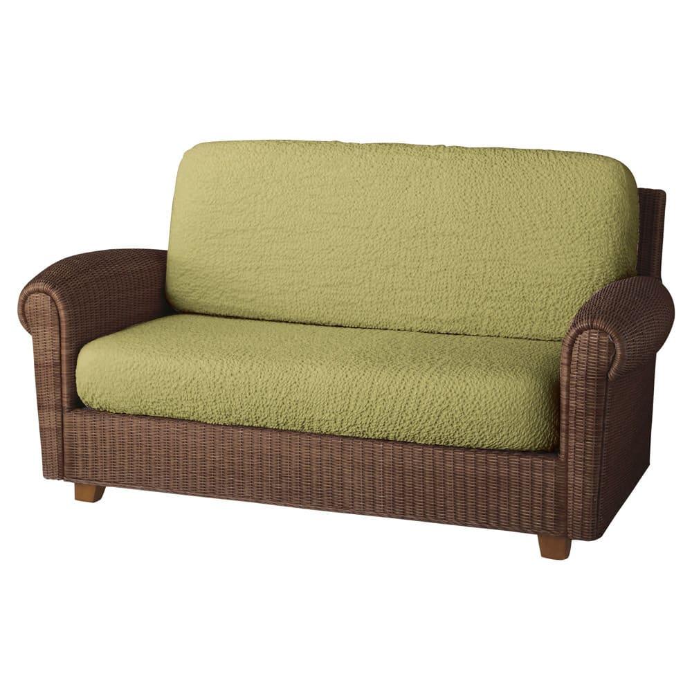 イタリア製[ブックレ]座面・背もたれ兼用カバー(1枚) (サ)ライトグリーン ※写真は2人掛用を2枚使用しています。