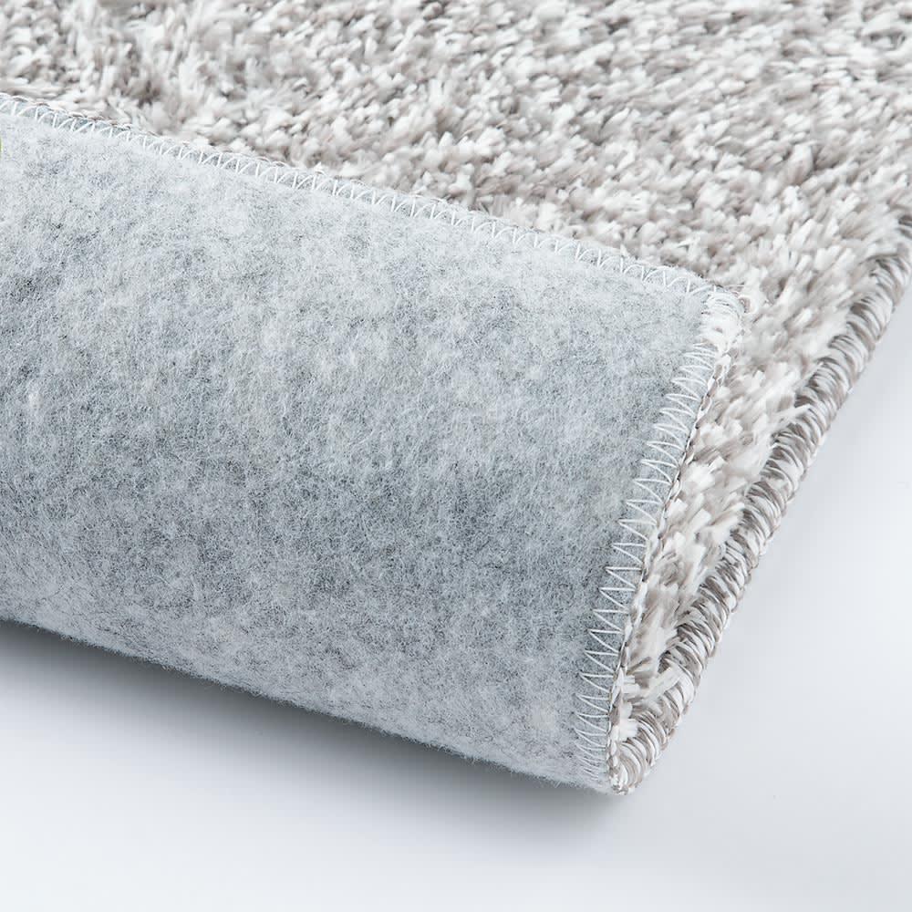 洗えるモチフワ防ダニ抗菌ラグ 裏…不織布(滑りにくい加工)