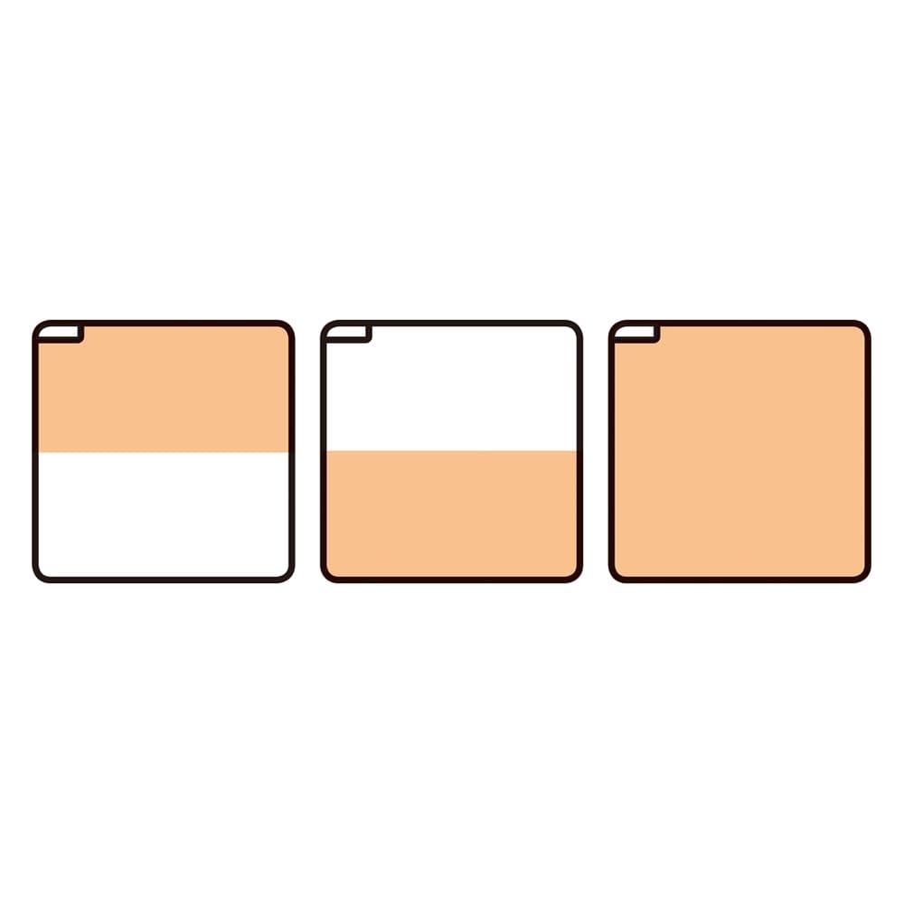 フローリング調プリント防水ホットカーペット(2畳/3畳) ●暖房面切替機能