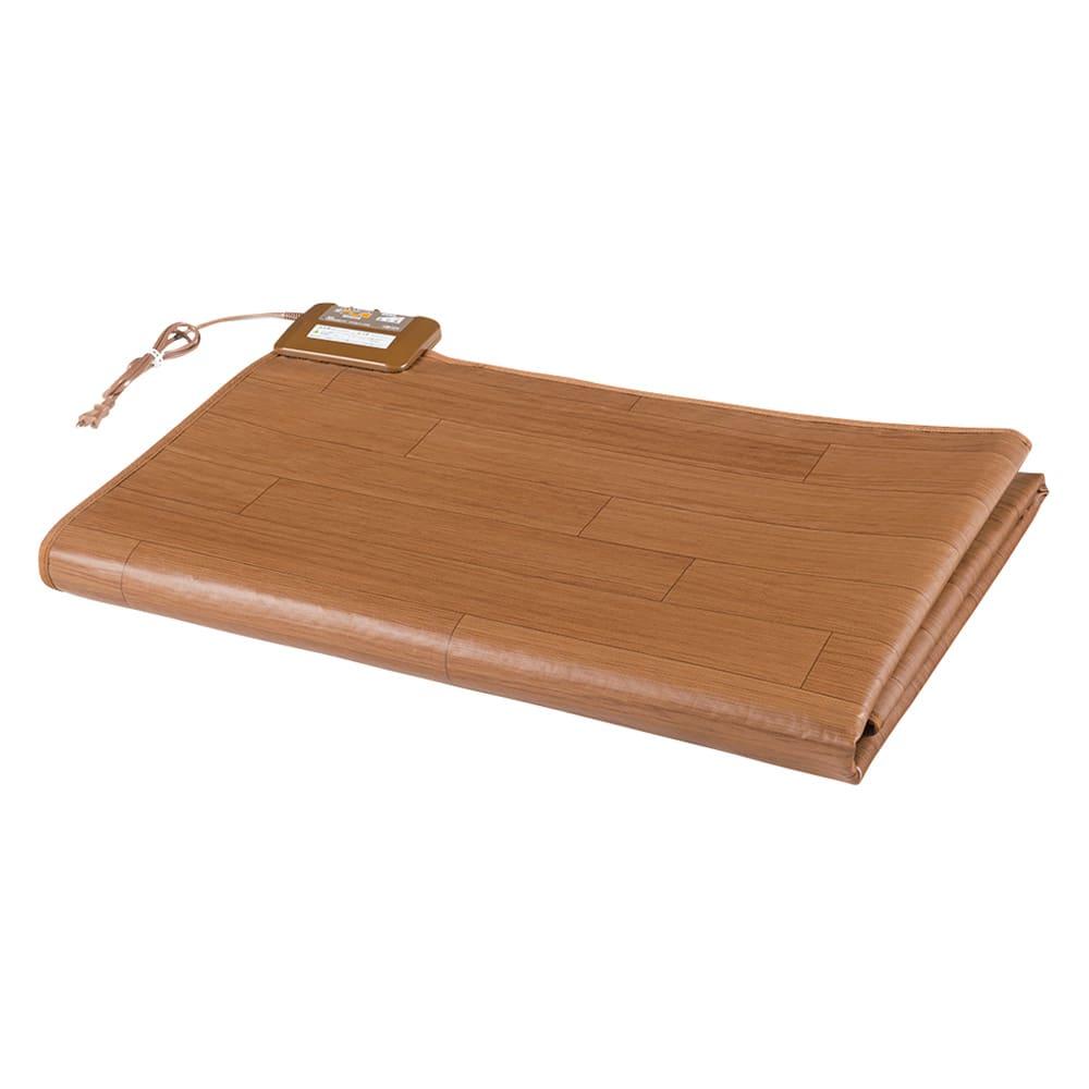 フローリング調プリント防水ホットカーペット(2畳/3畳) 折りたたんで収納できます。