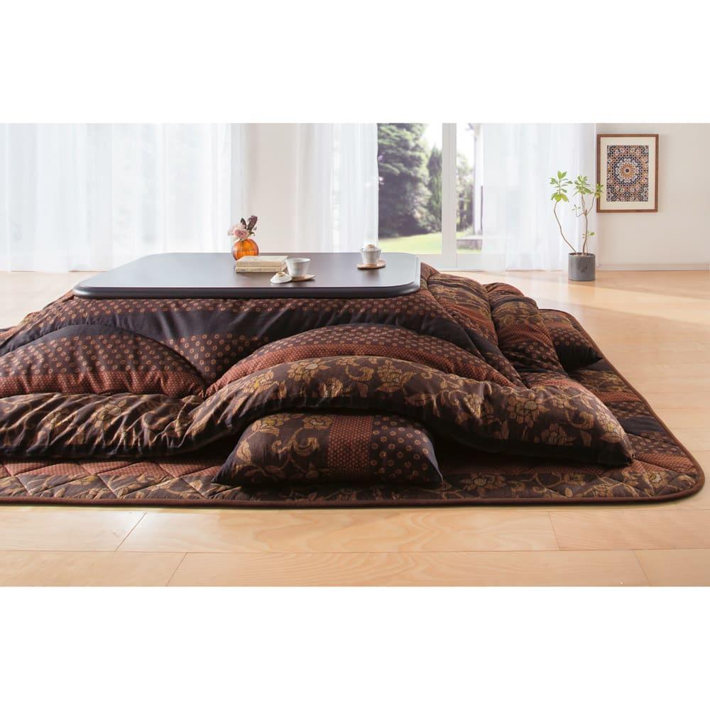 家具 収納 こたつ こたつ布団 カバー 【長方形】 日本製 ふっくらこたつシリーズ 掛け布団 529719
