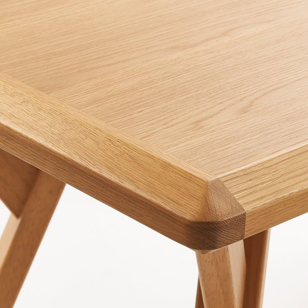 【長方形】天然木ダイニングこたつテーブルシリーズ テーブル 幅120cm奥行70cm高さ65cm 天板は天然木の美しい木目を生かし、角をカットして肌あたりをやさしく仕上げました。