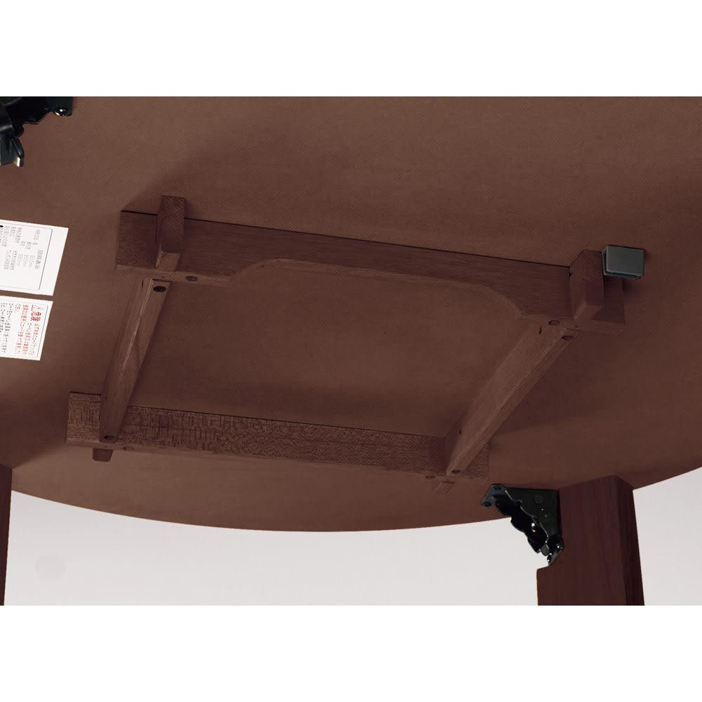 【円形】径120cm ナラ天然木折れ脚まぁるいこたつ 丸形 ヒーターは取り外すことが可能です。