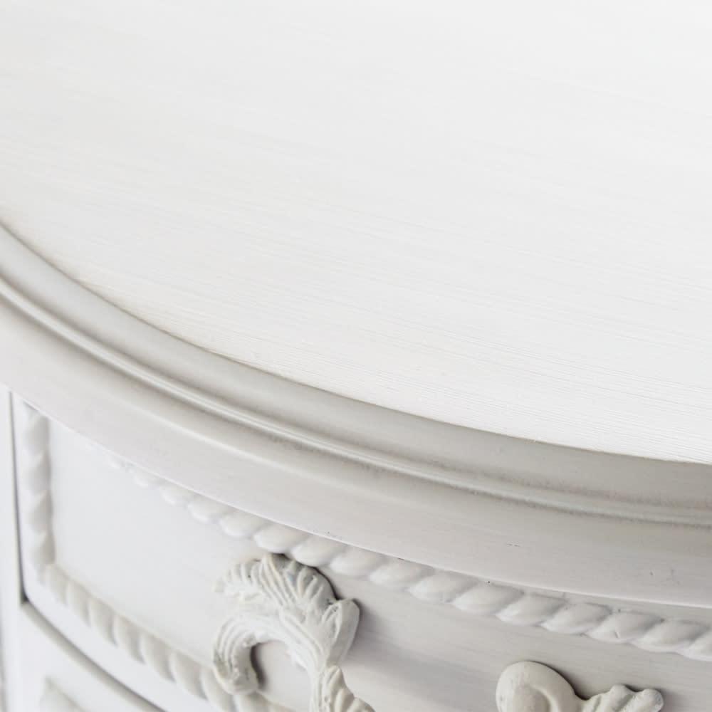 シャビーシック ホワイト フレンチ収納家具シリーズ リビングボード 表情豊かなグレーのアンティーク塗装。