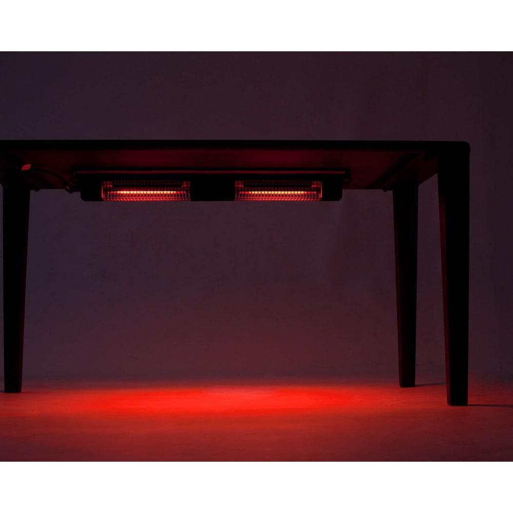 布団のいらないこたつダイニング こたつテーブル・幅140cm 光があたった瞬間から暖かさを実感できます。