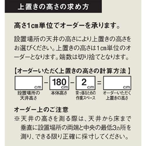【1cm高さオーダー対応】天井ぴったりキッチンシリーズ 上置き 幅60cm奥行50cm高さ30~80cm ※オーダーされる際は必ずお読みください。