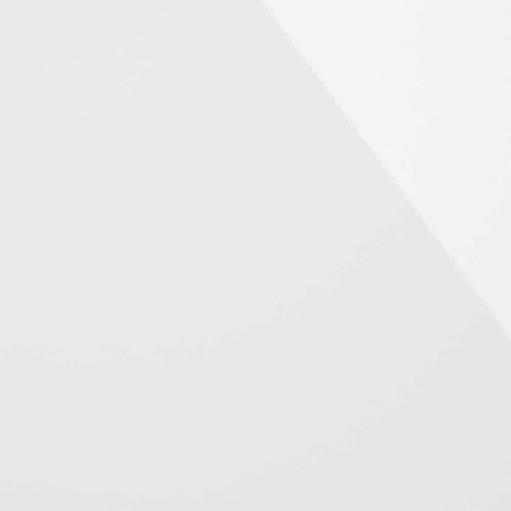 幅オーダー光沢カウンターシリーズ 扉引き出しタイプ ハイタイプ(高さ102cm) 幅80~160cm(幅1cm単位オーダー) (ア)ホワイト 美しい光沢の白が、明るく清潔感のある空間に。ご自宅のキッチンにも合わせやすい定番色です。