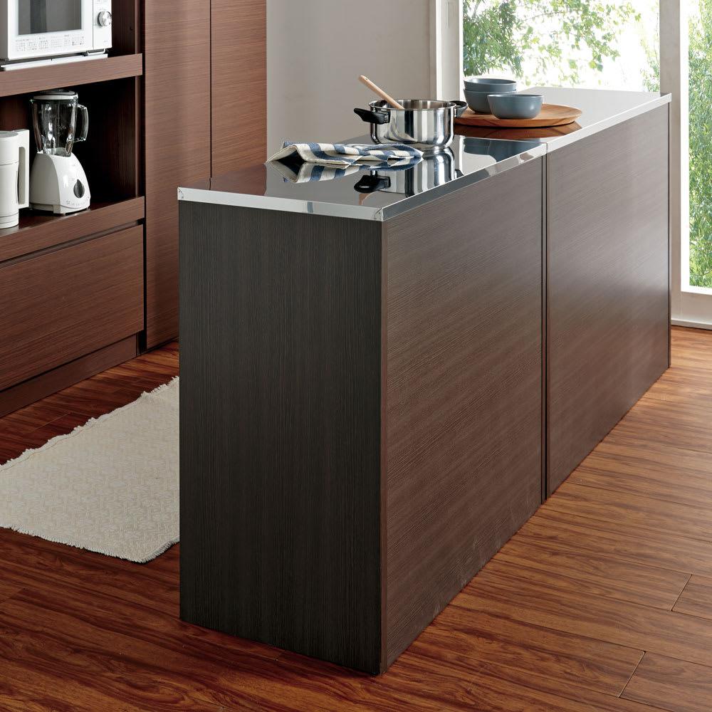 ステンレストップ間仕切りカウンター 幅90cm キッチンとダイニングスペースを間仕切る独立カウンターとしても使えます。