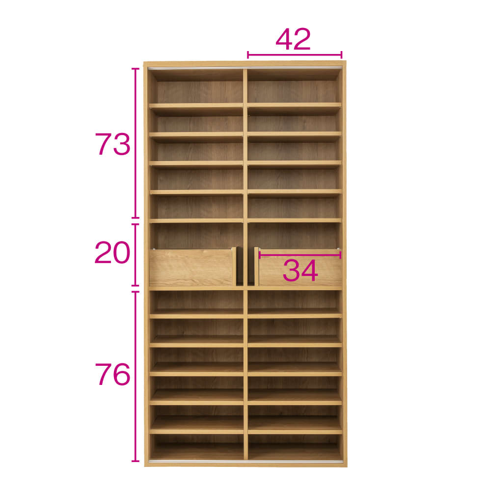 棚板たっぷりラクラク引き戸食器棚 幅90cm・奥行39cm (イ)ブラウン ※赤文字は内寸(単位:cm)
