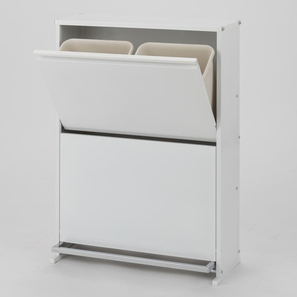 ペダル式薄型分別ダストボックス 4分別 幅63.5cm 531802