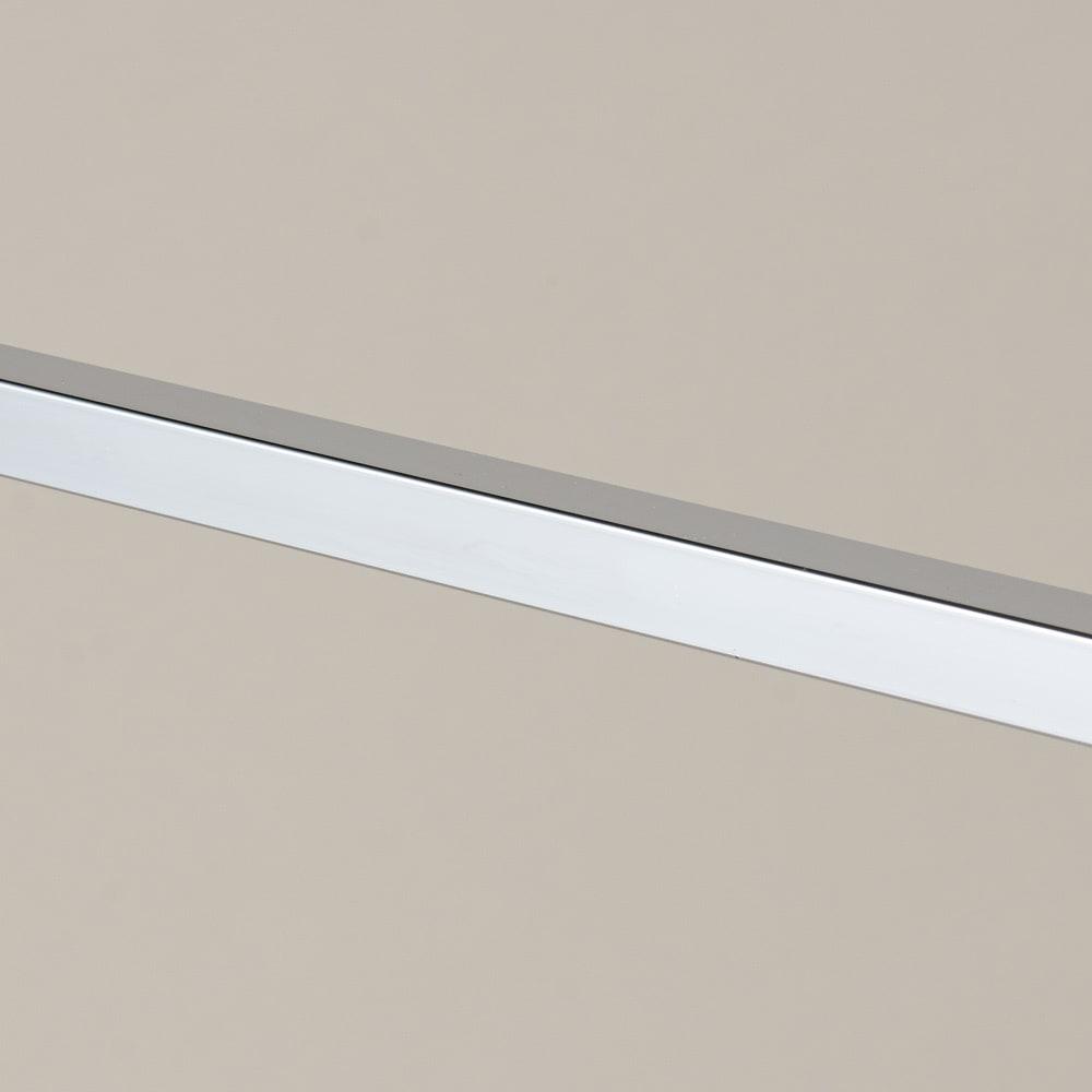 コンパクトに収納 2WAY物干しポールハンガー ロングタイプ 物干しバーはしっかりした角パイプを使用しています。