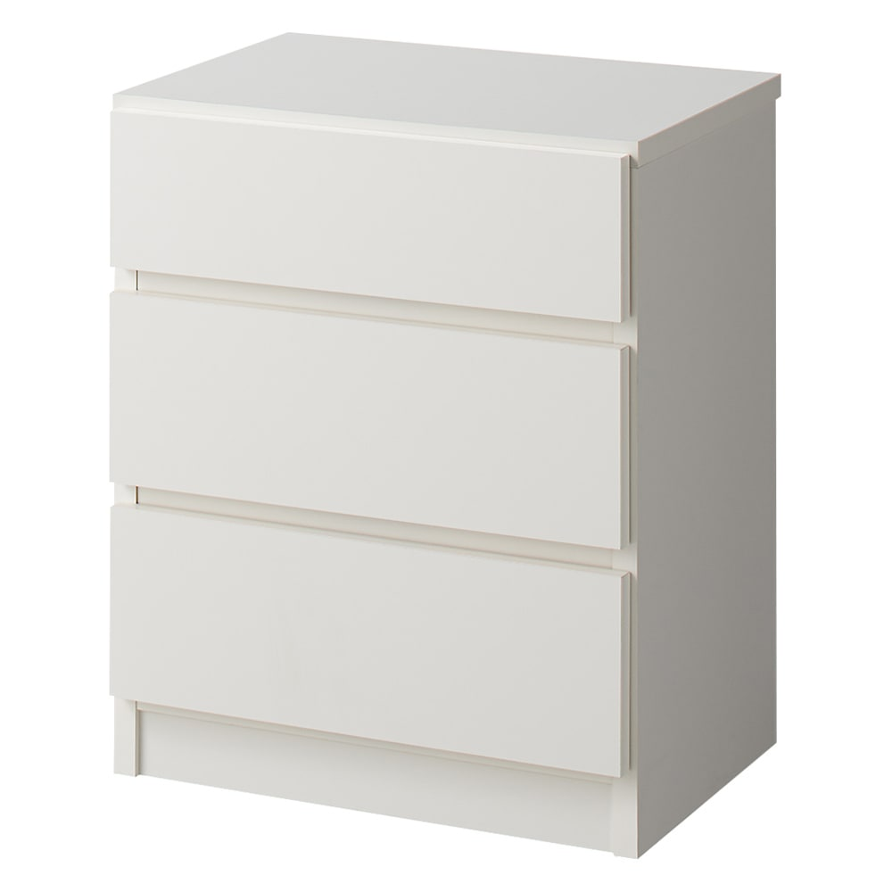 【完成品・国産家具】ベッドルームで大画面シアターシリーズ チェスト 幅45高さ55cm (ア)ホワイト