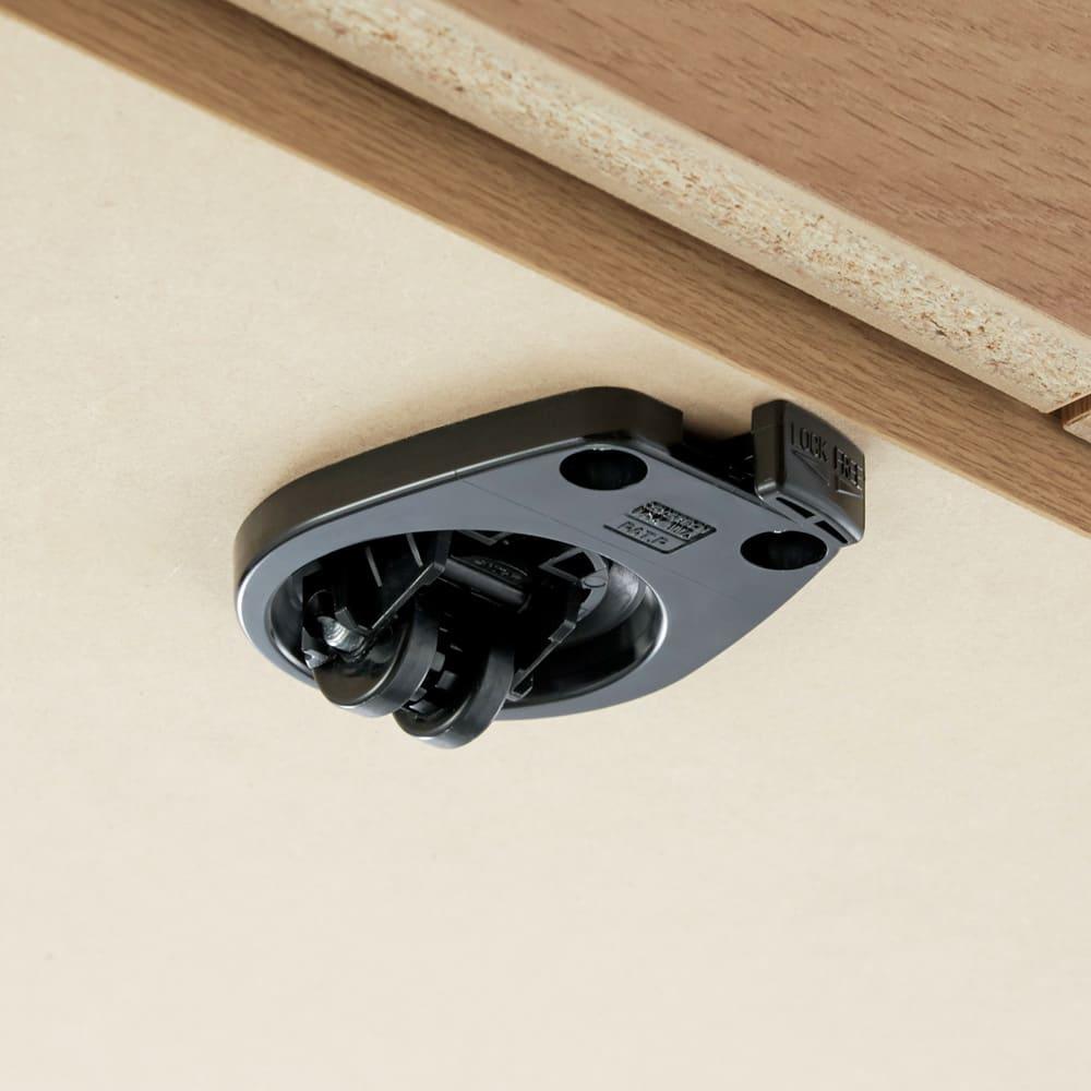 天然木調お掃除がしやすいコーナーテレビ台 幅90cm 隠しキャスター付きで移動がスムーズ。背面のお掃除もラクにできます。ストッパー付きで固定もしっかり。