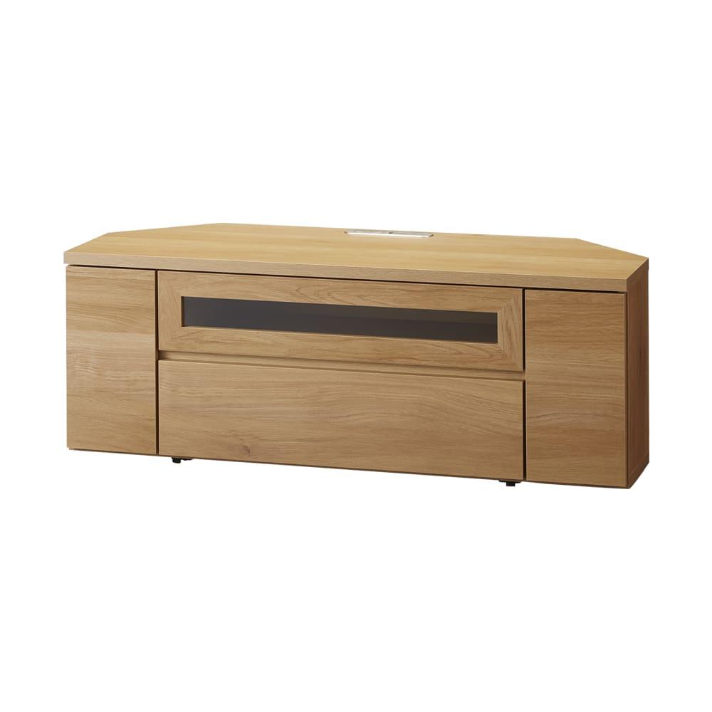 天然木調お掃除がしやすいコーナーテレビ台 幅120cm (イ)ナチュラル