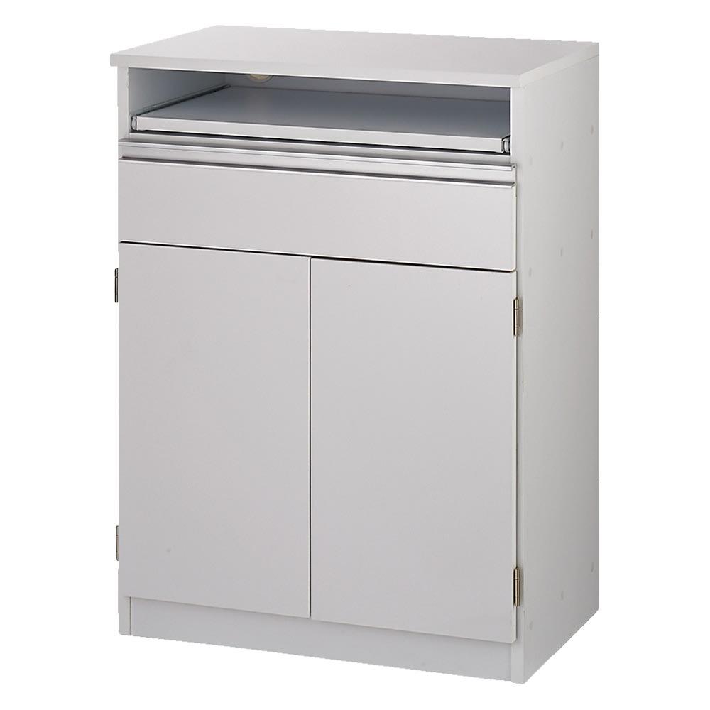 薄型PCキャビネット 幅60cm (イ)ホワイト