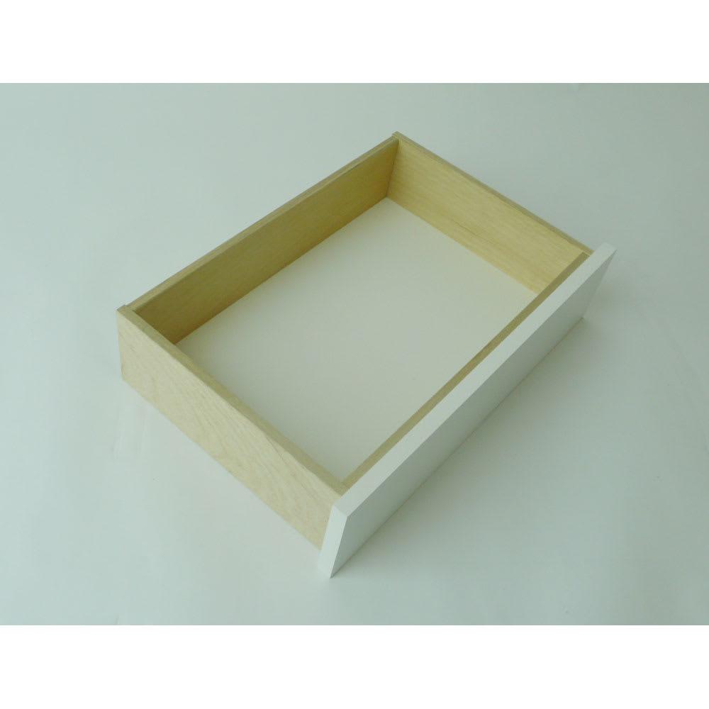 【日本製】壁面や窓下にぴったり収まる高さサイズオーダー収納庫 奥行35cmタイプ 引き出しチェスト 幅50cm 引き出しの底板は化粧仕上げ。頑丈な箱組仕様です。