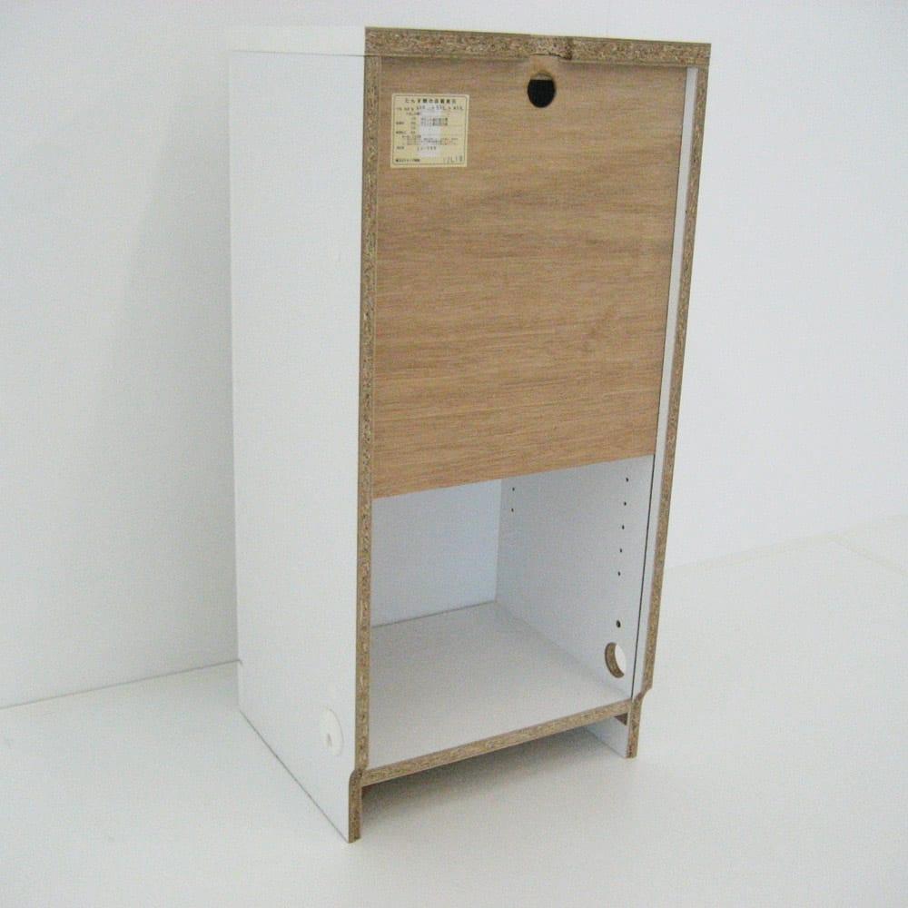 【日本製】壁面や窓下にぴったり収まる高さサイズオーダー本棚収納庫 奥行35cmタイプ 幅オーダー25~45cm(右開) 下から40cmまで背板が無いので、壁のコンセントを塞ぎません。