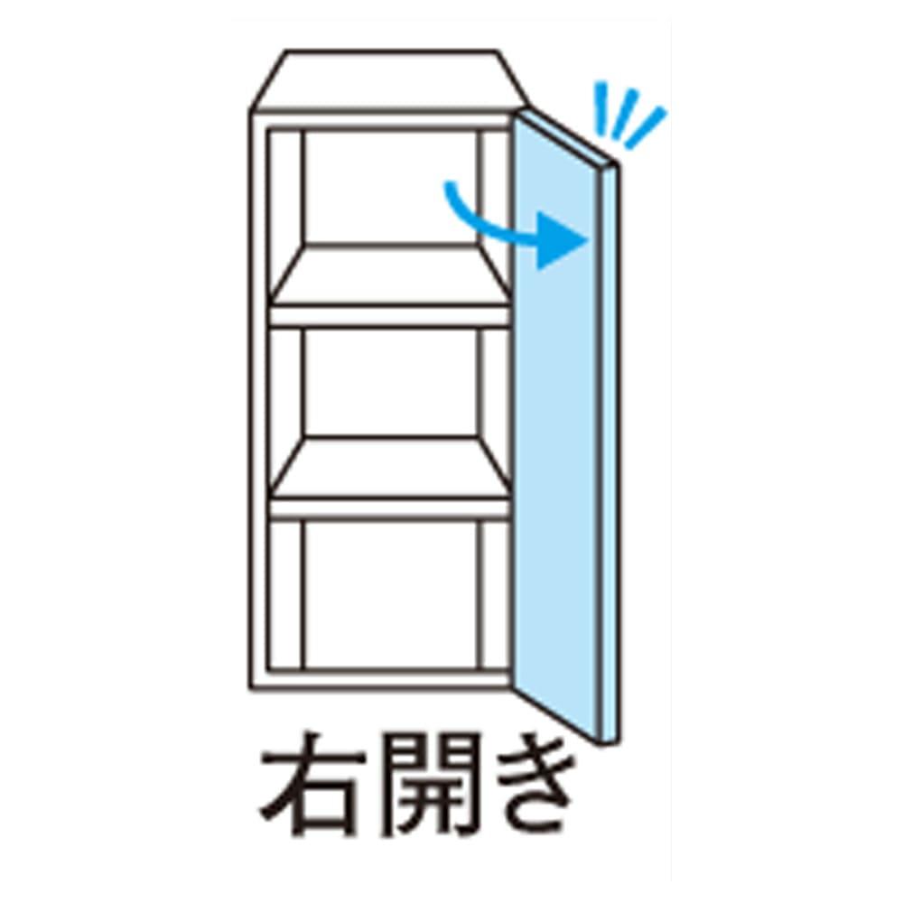 【日本製】壁面や窓下にぴったり収まる高さサイズオーダー本棚収納庫 奥行35cmタイプ 幅オーダー25~45cm(右開) こちらの商品は右開きです。