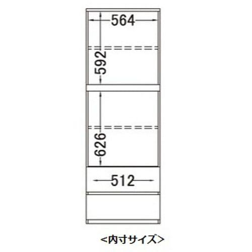 【パモウナ社製】毎日の使いやすさを考えた収納システム 扉 幅60cm 詳細図(正面)