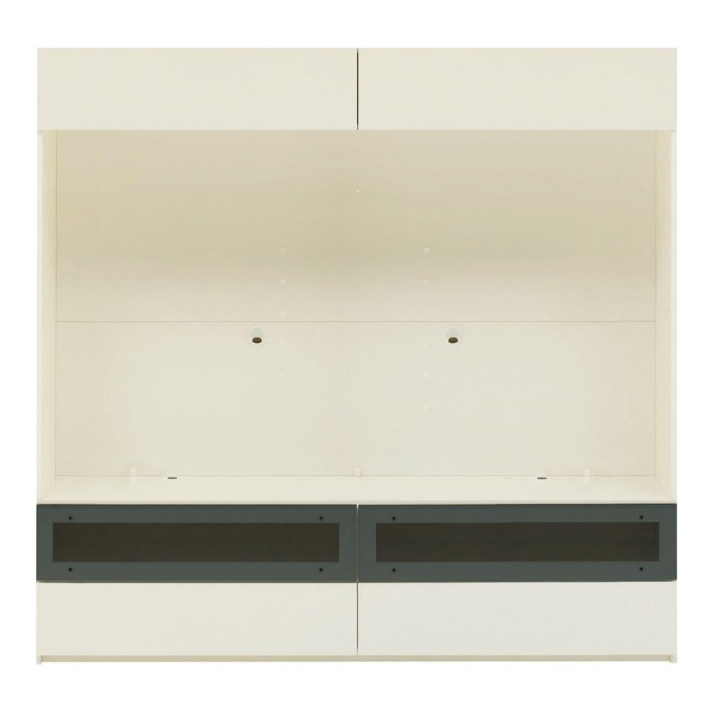 【パモウナ社製】毎日の使いやすさを考えた収納システム テレビ台幅180cm 大型テレビ対応 (ア)ホワイト