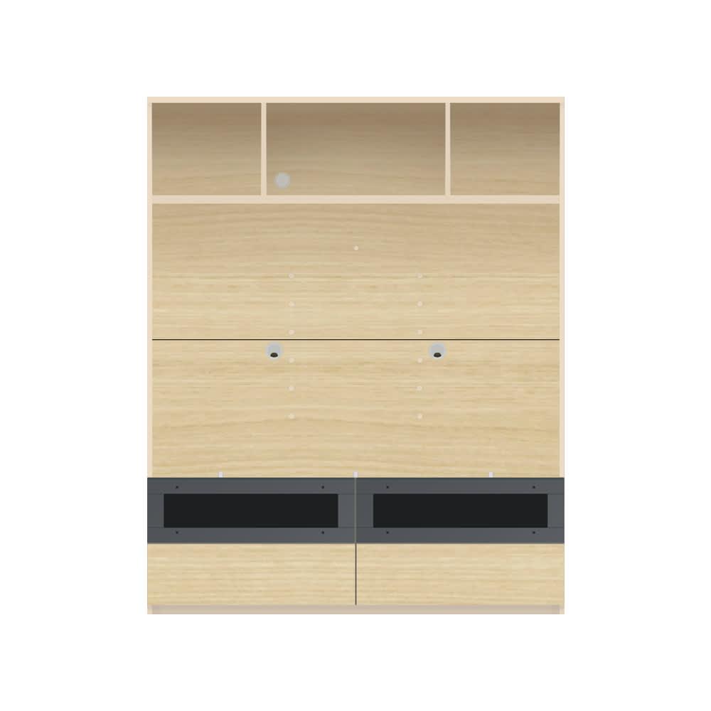 毎日の使いやすさを考えた収納システム テレビ台オープンタイプ 幅140cm (イ)ナチュラル