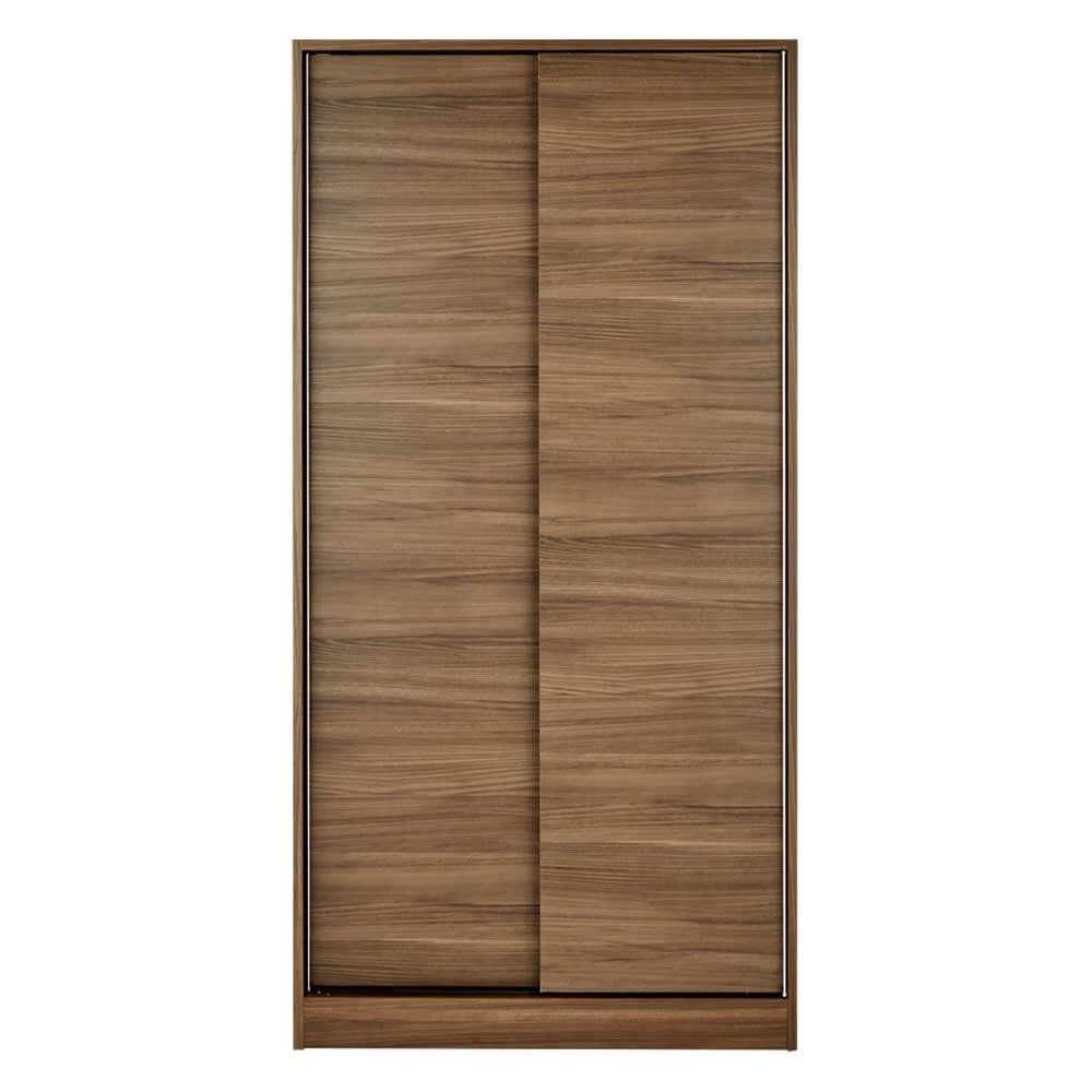 狭い場所でも収納たっぷり引き戸壁面収納シリーズ 収納庫 段違い棚タイプ 幅90cm 533405