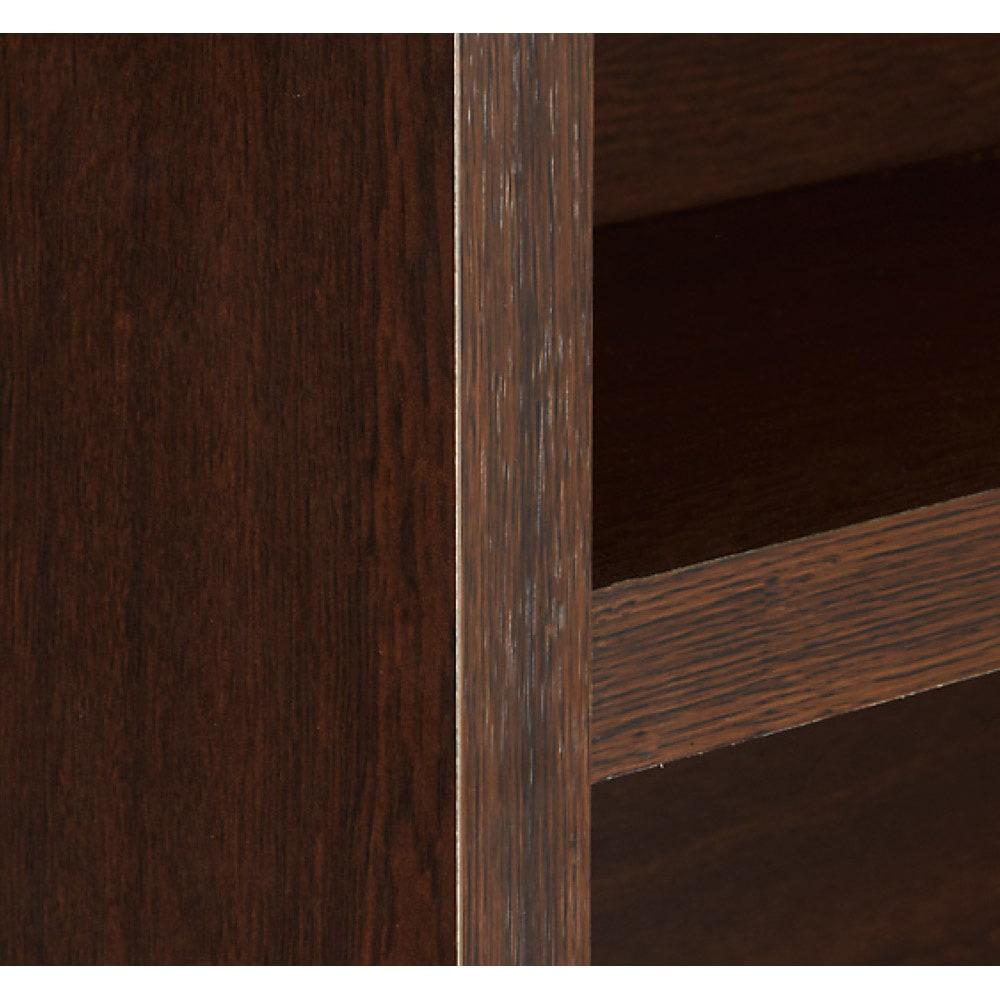 天井突っ張り式がっちりすっきり壁面本棚 奥行22.5cmタイプ 1cm単位高さオーダー 幅100cm・高さ207~259cm (ウ)ダークブラウン
