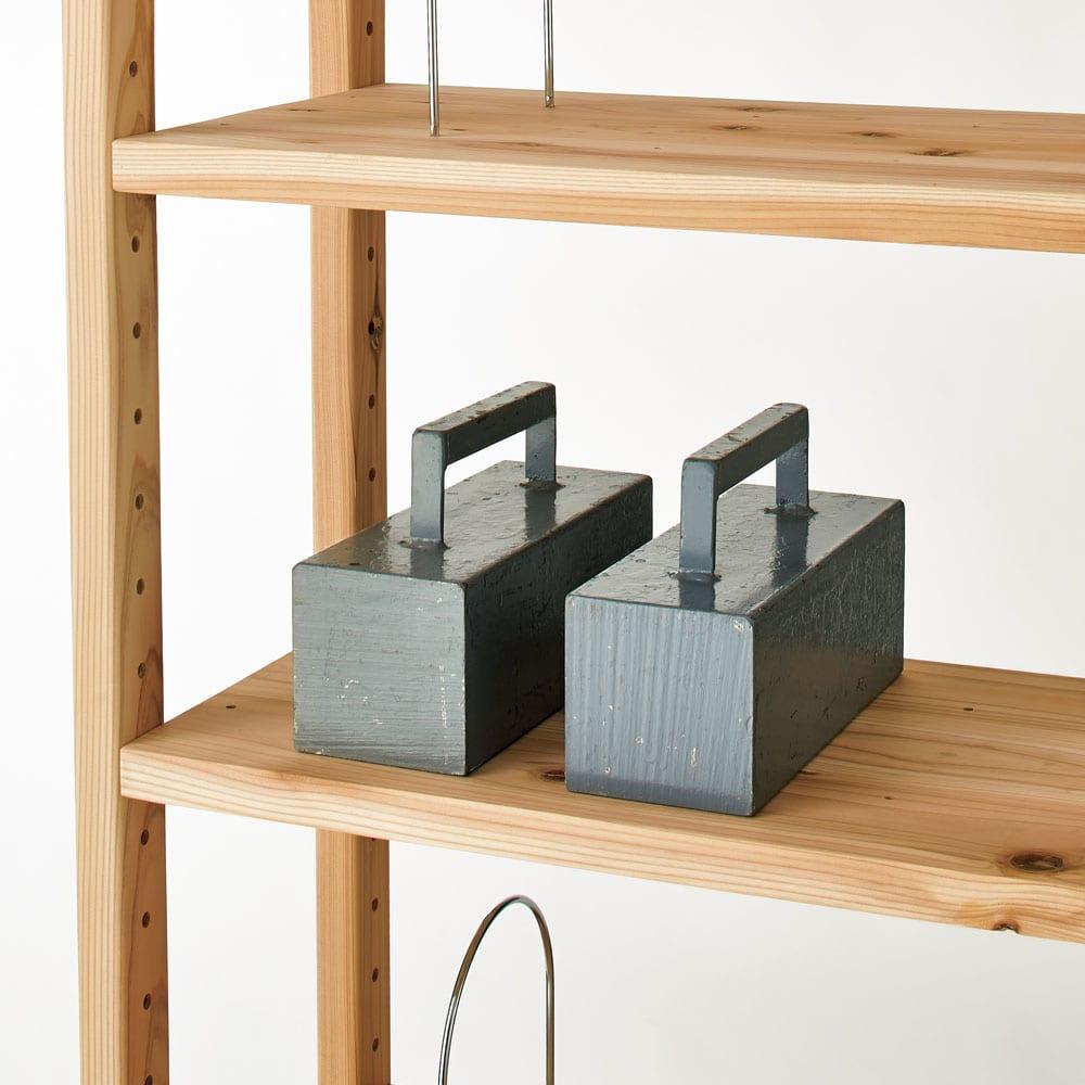 播磨の国からの贈り物 国産杉 頑丈ディスプレイ本棚 オープンタイプ 幅100cm高さ89cm 【頑丈棚板】棚板1枚当たりの耐荷重約50kgの頑丈仕様。