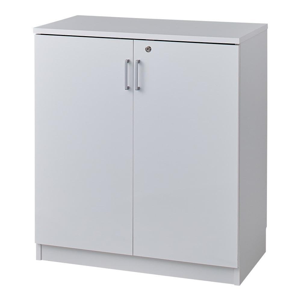 鍵付き本棚ロータイプ 幅60奥行35高さ87cm 商品イメージ:(ア)ホワイト ※写真は幅80cmタイプです。