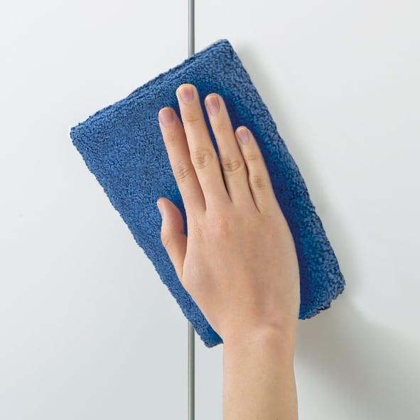 【幅80cm】 突っ張り壁面収納本棚 (奥行45cm本体高さ230cm) ホワイト色のみ傷や汚れに強いクリーンイーゴス素材。