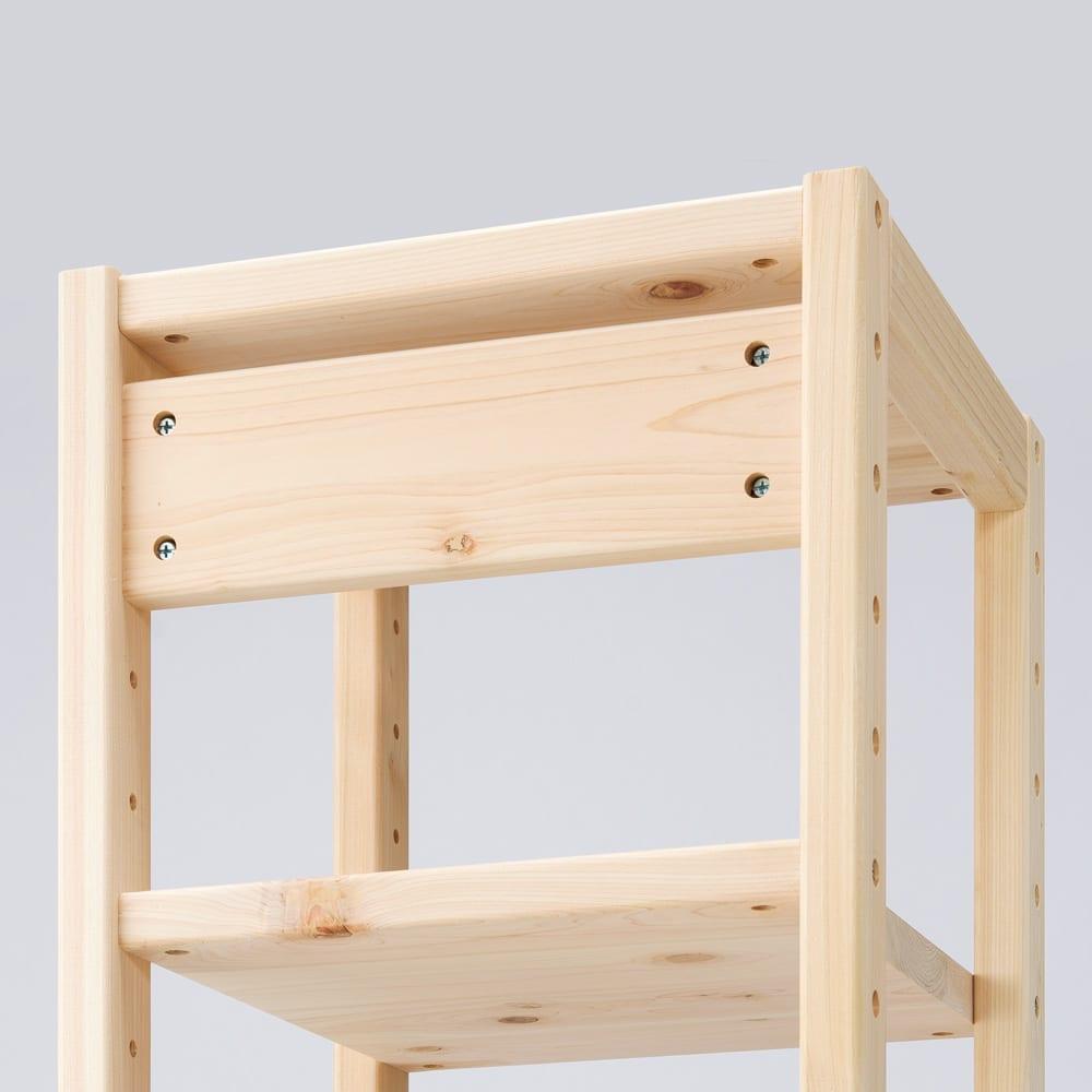 国産檜オープンラック 幅40高さ179cm 補強板まで檜を使った総無垢仕上げ。