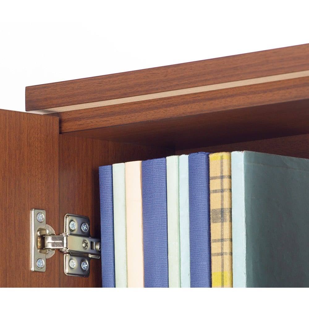 1cmピッチ薄型窓下収納庫 【幅115奥行17.5cm】 天板下の補強板が安心感を高めます。