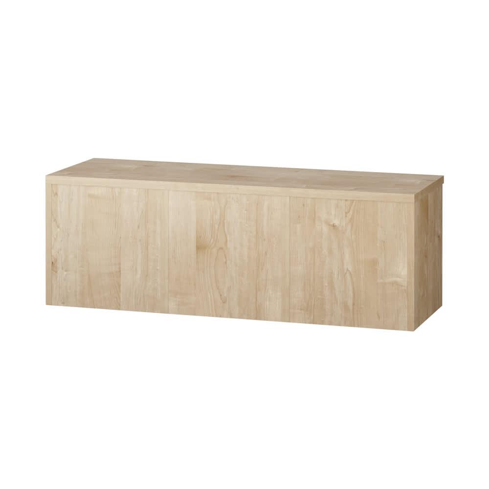 天然木調ベンチ 幅117cm(2人用) 背面化粧がしてあるので壁から離して間仕切りとしてもご使用いただけます。