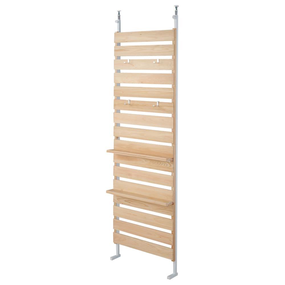 国産檜 壁面突っ張りウッドパネル 幅60cm こちらの商品は【幅60cm】タイプです。