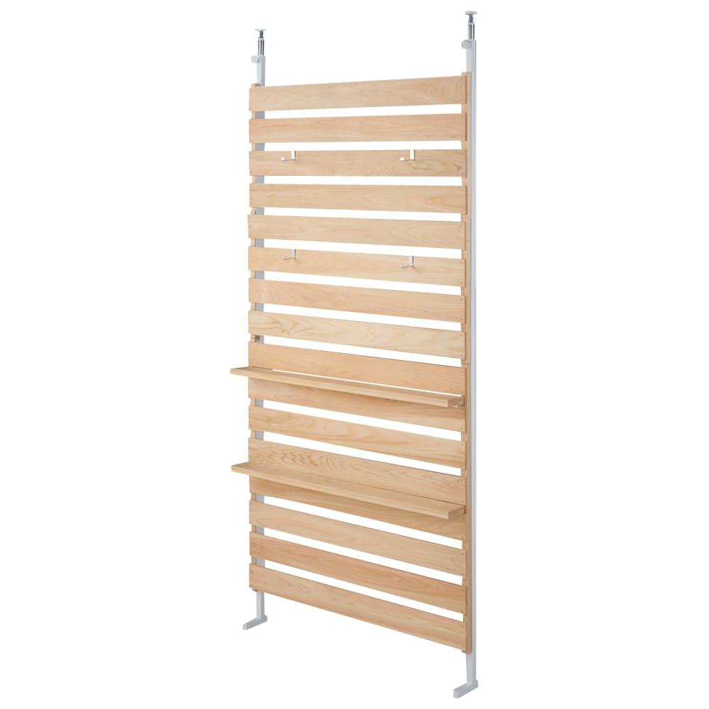 国産檜 壁面突っ張りウッドパネル  幅90cm こちらの商品は【幅90cm】タイプです。