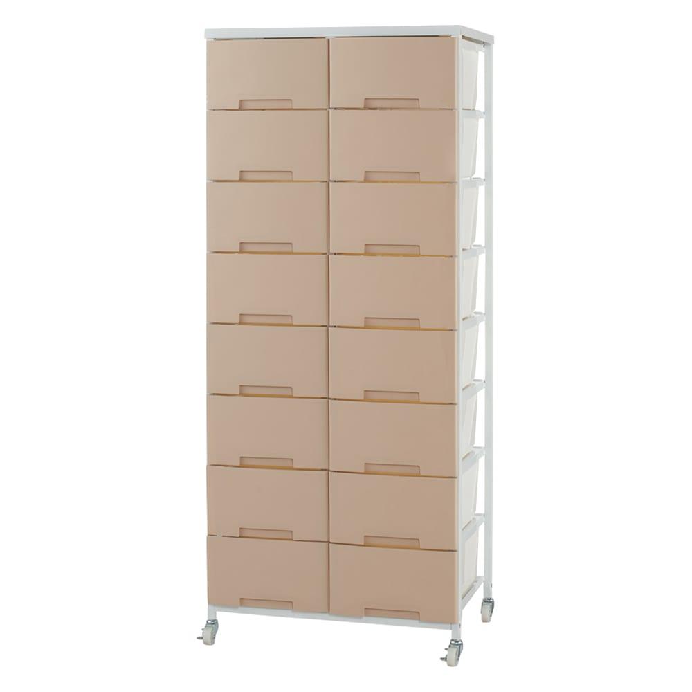 家具 収納 トイレ収納 洗面所収納 家族の衣類を一括収納 大量収納タワーチェスト 2列・8段タイプ 534605