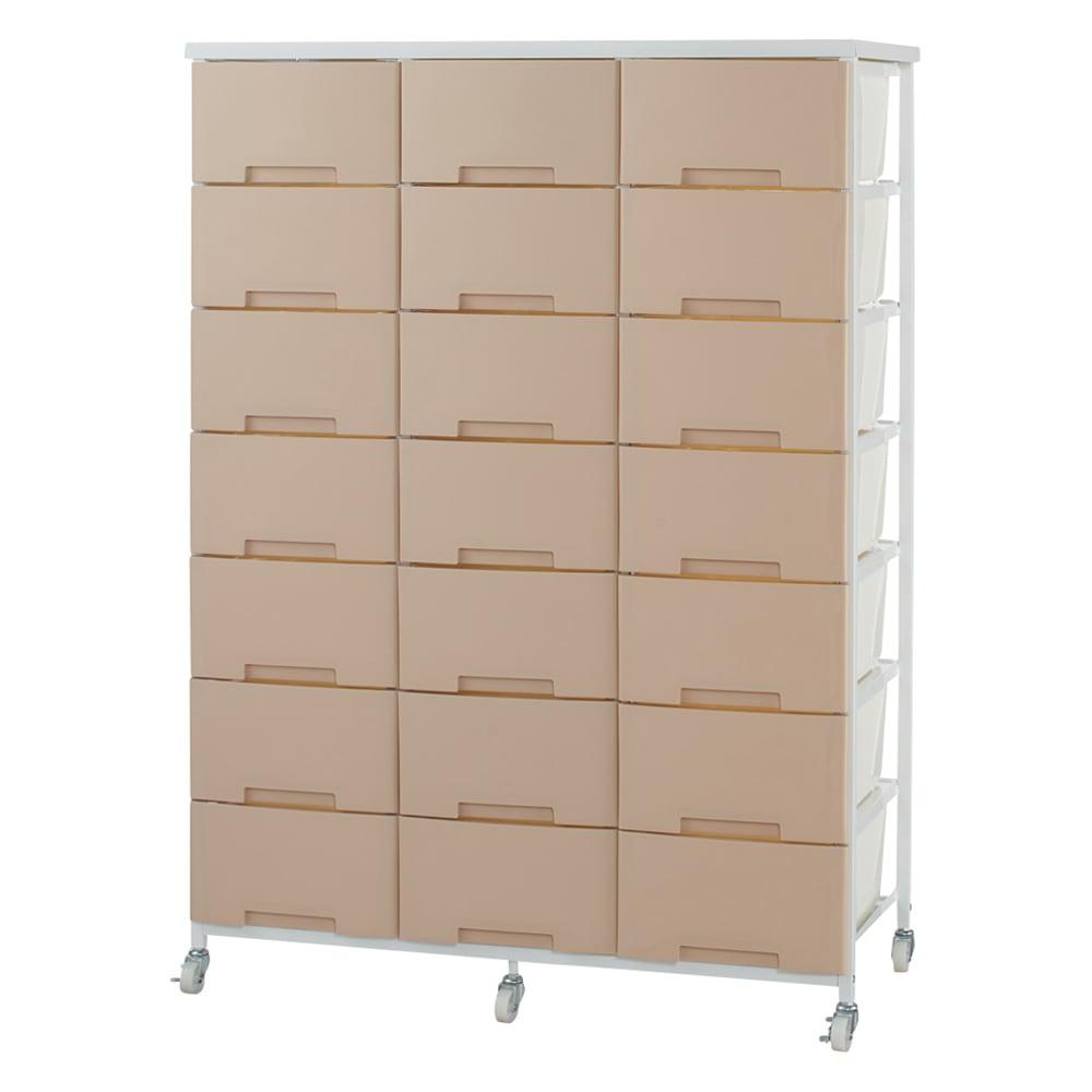 家具 収納 トイレ収納 洗面所収納 家族の衣類を一括収納 大量収納タワーチェスト 3列・7段タイプ 534608