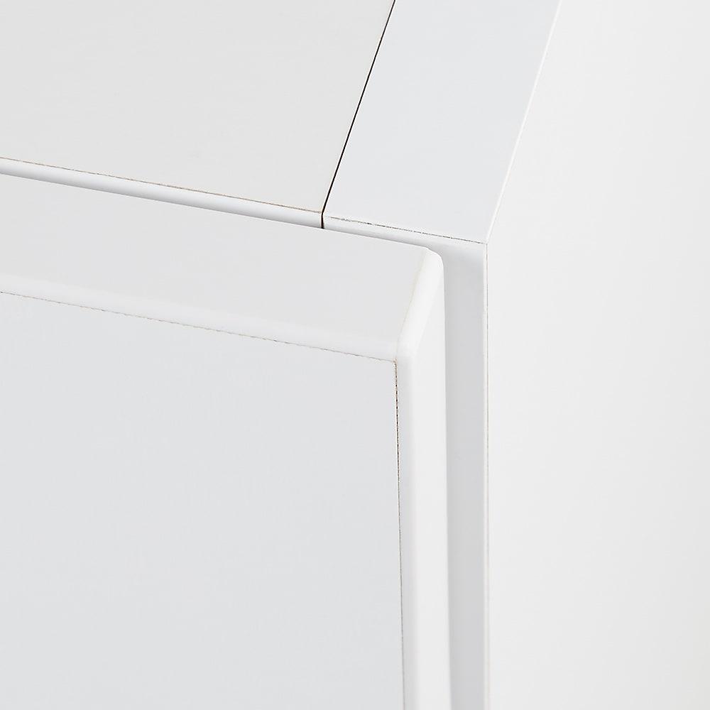 お部屋の天井構造を考慮した壁面ワードローブ ハンガー&引き出し 幅80高さ180cm(高い梁下に) 丁寧な造りで美しい仕上がり