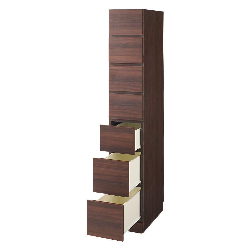 お部屋の天井構造を考慮した壁面ワードローブ タワーチェスト 幅40高さ180cm(高い梁下に) 引き出し開け お届けする商品です。