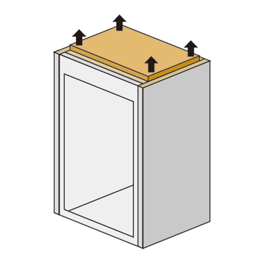 【国産・完成品】薄型 オープンワードローブ 高さオーダー対応上置き 幅77.5cm・高さ26~90cm 上置きは面で突っ張るので安心です。