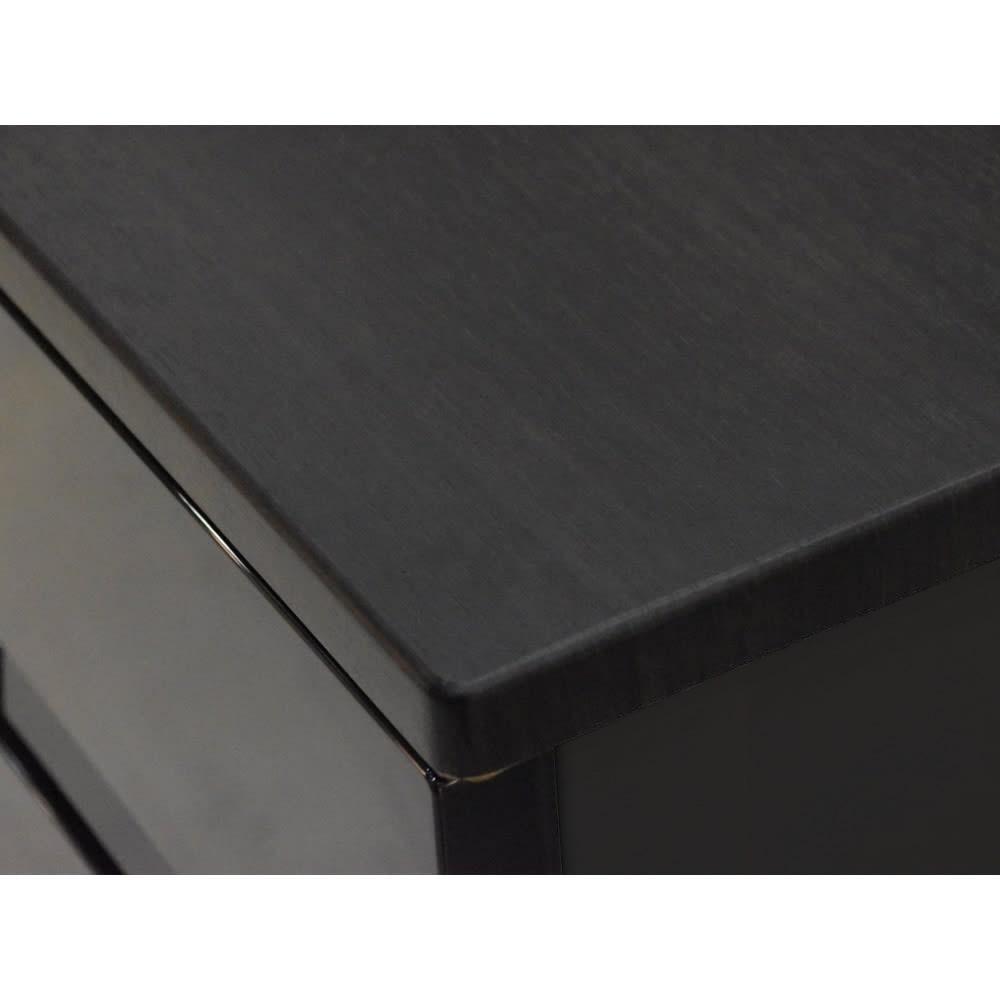 Fits フィッツプラスプレミアム 幅65cm・5段 天板はMDF化粧板(オールブラック)