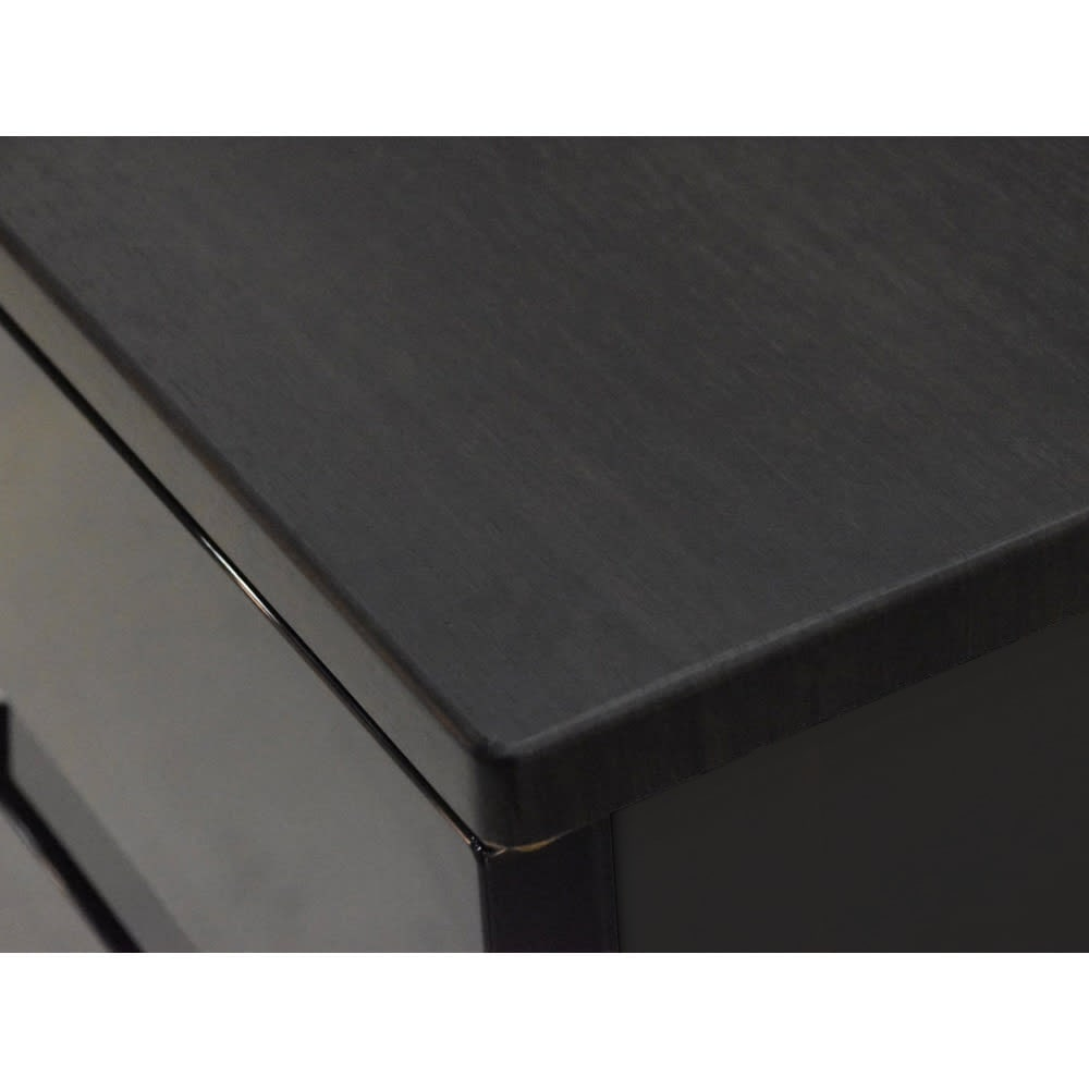 Fits フィッツプラスプレミアム 幅75cm 3段[FP7503 テンマ] 天板はMDF化粧板(オールブラック)