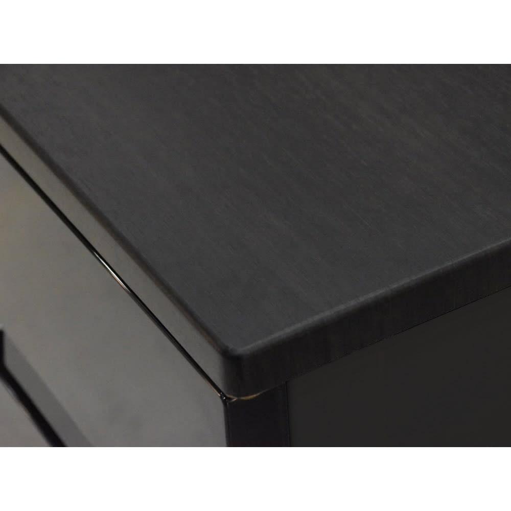 Fits フィッツプラスプレミアム 幅75cm 4段[FP7504 テンマ] 天板はMDF化粧板(オールブラック)