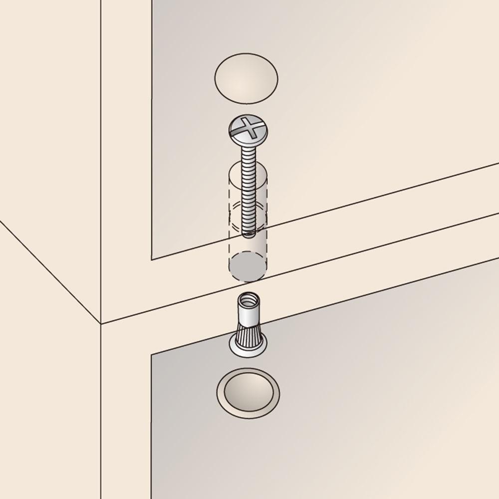 美しく飾れる壁面シューズクローゼット オーダー上置き(3枚扉) 幅119.5cm高さ26~90cm 上置きと本体同士はジョイントネジで連結できます。