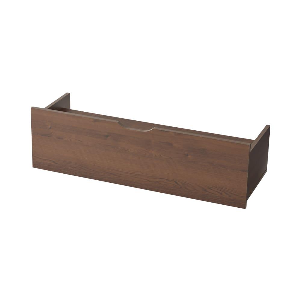【日本製】下駄箱下木製シューズワゴン ロー(高さ20cm) 幅100cm (ア)ダークブラウン