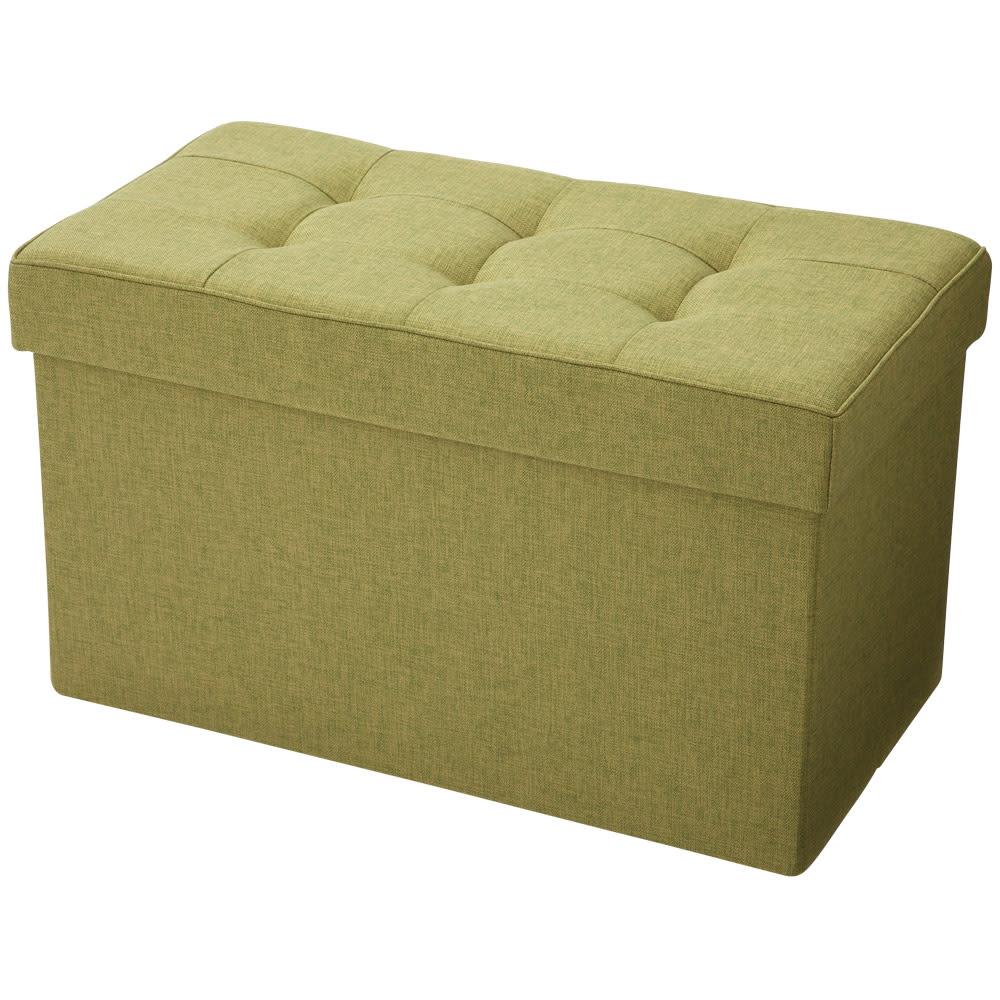 クッション付き収納BOX (ウ)グリーン