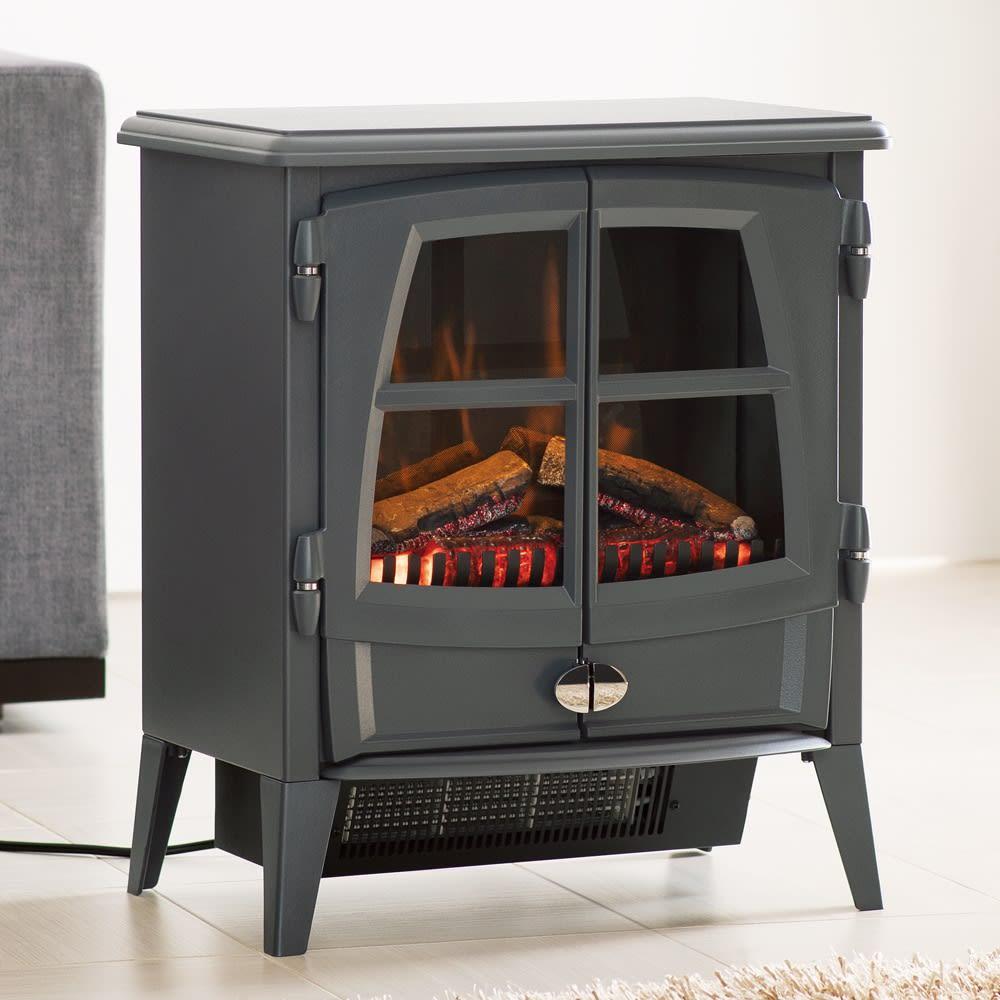 ディンプレックス 暖炉型ファンヒーター ジャズ2 (イ)グレー (販路限定カラー)